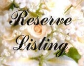 Reserved Listing for Megan Curup