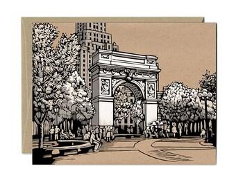 Washington Square Park Card and Envelope