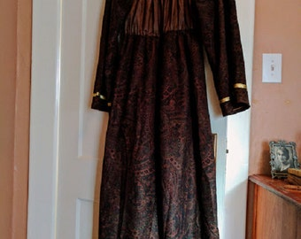 Women's Handmade Vintage Renaissance Faire Dress with Skirt Overlay and Bell Sleeves Size M
