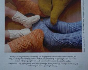 Journey Cable Socks knitting patterns for socks  2004