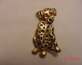 Vintage Dalmatian Dog Brooch    16 - 866