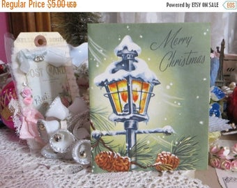 Going Out Of Business Vintage Retro Mid Century Christmas Greeting Card-Unused