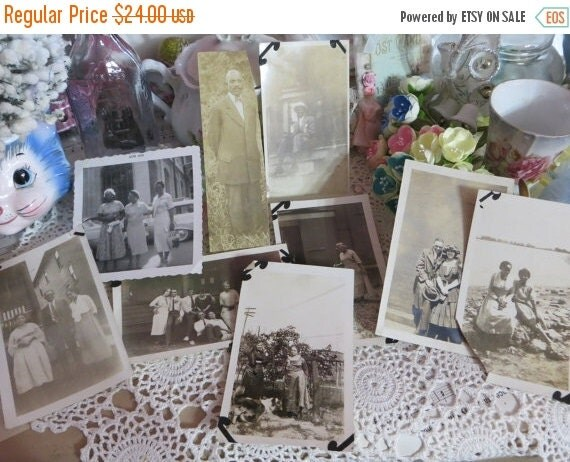 ON SALE Vintage African American Photo Lot