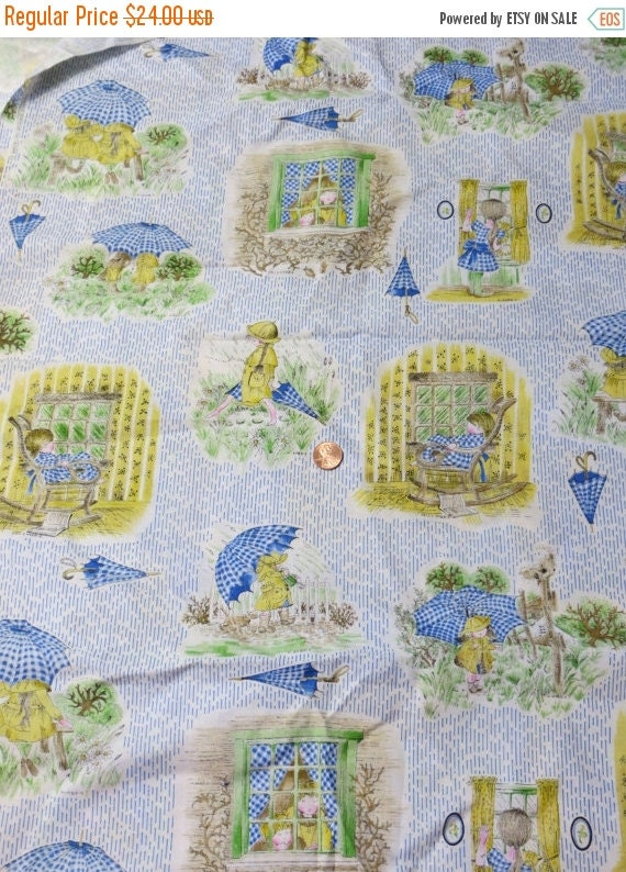 ON SALE Vintage Holly Hobby Fabric-1.75 yards