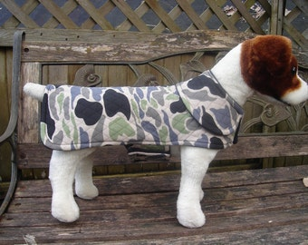 Dog Jacket- Quilted Camoflage Coat- Size Small 12 to 14 Inch Back Length - Or Custom Size