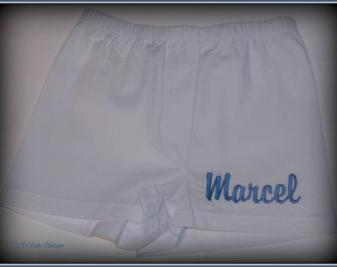New personalized baby boy boxers diaper cover infant shower gift