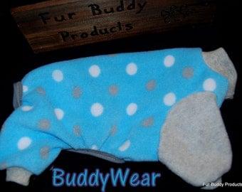 "10"" Medium Clothing for the Toy Breeds Chihuahua, Shih Tzu, Maltese or any tiny one needing a coat. BuddyWear fleece Romper Jammie,"
