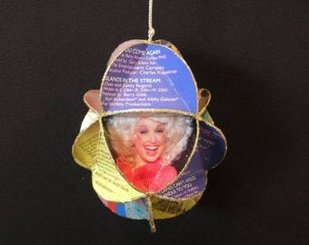 Dolly Parton Album Cover Ornament Made Of Record Jackets Country Music