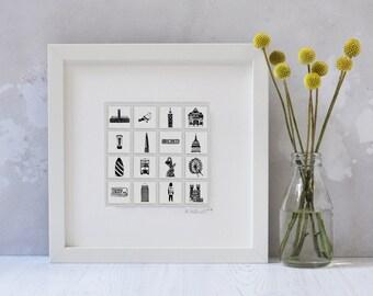 London Art - London gift - London print - London wedding gift - Unusual wedding gift