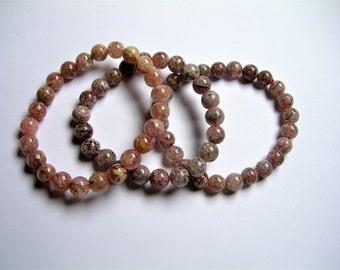 Lepidocrosite - 3 set - 69 beads - 7mm to 7.8mm - 54 grams - LPS10