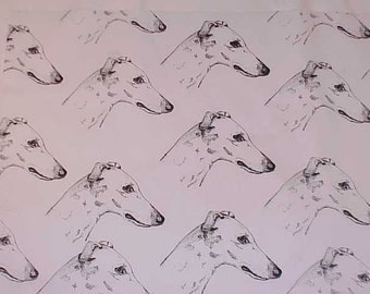 Greyhound Dog Fabric Hot Diggity Dog Fabrics Dog Fabric / Novelty Fabric 1yd