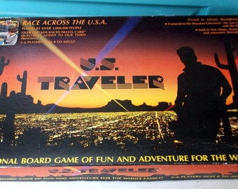 1983  U.S. TRAVELER Board Game from Intelligames Race Across the USA Ages 8 to Adult