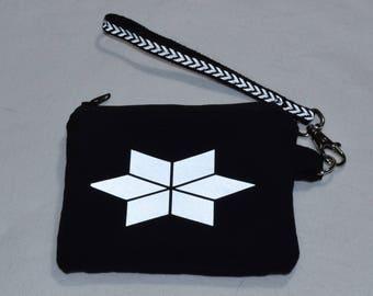 Reflective Star zip pouch / coin purse / wallet