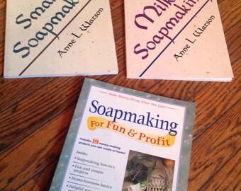 Lot of Soapmaking Books Recipes
