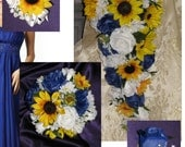 Horizon Dahlias, Sunflowers with White Daisy Bouts & Corsages