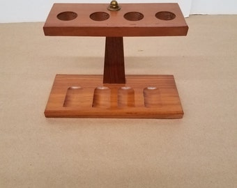 Vintage Wooden Pipe Holder that Holds 4 Pipes