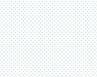 Aqua swiss dots on white basics by  Riley Blake - C660-20 blender
