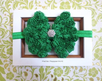 Green baby headband, baby head band bow, girl headband, toddler headband, infant headband, newborn headband, green baby girl hair bow