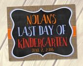 Last Day of School Sign, Personalized End of School School Sign, PRINTABLE Digital File, Burlap Chalkboard 8x10, 11x14