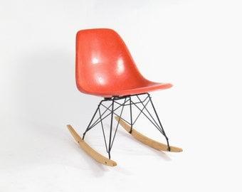 Eames for Herman Miller Fiberglass Side Chair Rocker-RSR