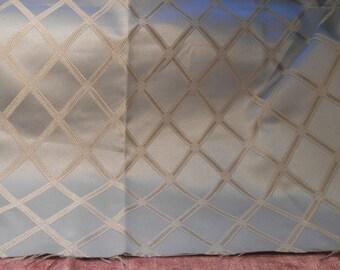 Vintage Fabric Remnant Powder Blue Damask Remnant