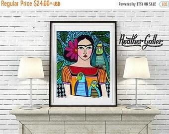 50% Off Today- Frida Kahlo Mexican Folk Art (HG466)