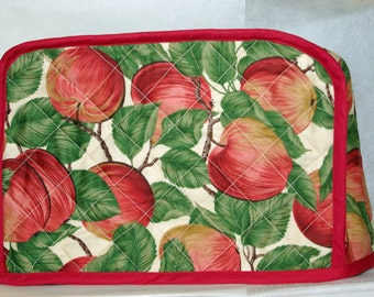 Toaster Cover With Apples,  Quilted,  For 2 Slice or 4 Slice Toaster, No Shipping Charges, Ready To Ship TODAY, AGFT 249