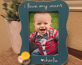 Aunt Gift Aunt Picture Frame Auntie Sister Gift Frame Great Aunt grandma gift picture frame gift personalized godmother frame godfather gift