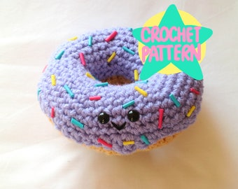 Crochet Pattern Amigurumi Doughnut Kawaii Cute Donut