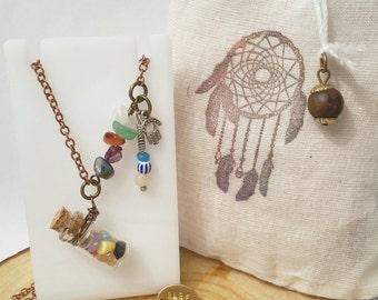 Rare Spirit Tiny Bottle Gemstone Necklaces