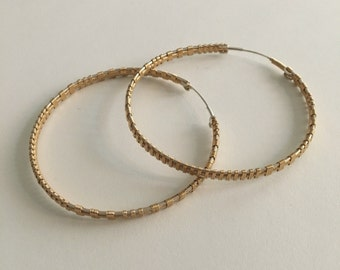 Made To Order Gold Fill & Silver Hoop Earring Large