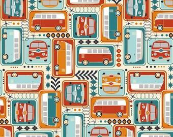 Riley Blake Designs Keep On Groovin Cream Main Fabric  - 1 yard