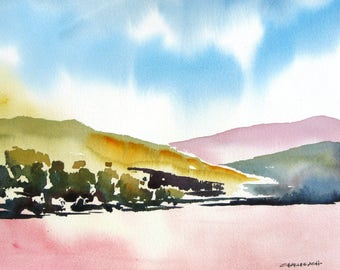 Highlands Spring - Original Watercolor Painting