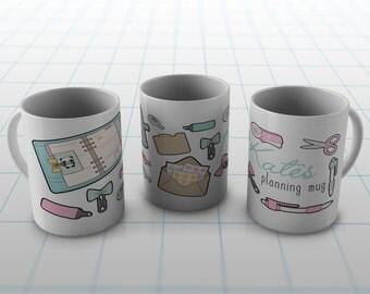 Personalised Planning Mug | Coffee Mug |  | Gift | Planner | Planning Supplies