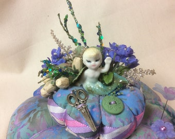 Mermaid  Pincushion Pin Keep