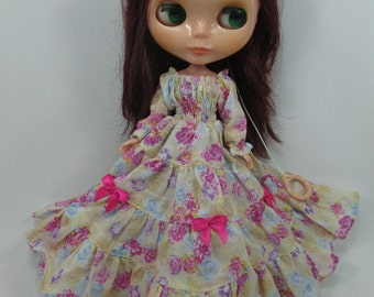 Handmade Outfit dress for Blythe doll costume dress  790-63