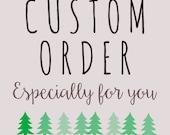 Custom Order for Natalie: 2 self inking stamps