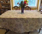 Round Table Cloth #1487,  Round Designer Fabric, Table Cloth, Round Table Cloth, Table Cloth, Round Table Linen, Kitchen and Dining, Tables