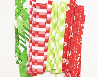 Fabric Tape from Vintage Sheets - Christmas Colors - Planner Embellishment - Project Life - Scrapbooking Emblishment - Fabric Washi Tape