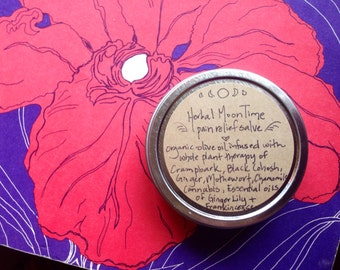 Small Batch // herbal moon time cramp relief rub