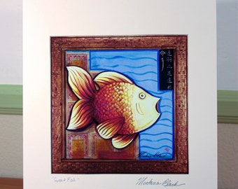 Great Fish Matted Print 11x14