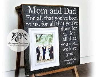 Mother of the Groom Gift, Mother of the Bride Gift, Parent Thank You Gift, Father of the Bride Gift, Wedding Thank You Gift, 16x16