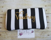 Black and White Vertical Stripes, Travel Wipe Case, Baby Wipe Case, Personalized Wipe Case, Diaper Wipe Case, Baby Shower Gift, Wipe Holder
