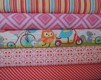 Owls Fabric, by Riley Blake, Designer Rag Quilt Kit,  Easy to Make, Personalized, Bin C, Sewing Available