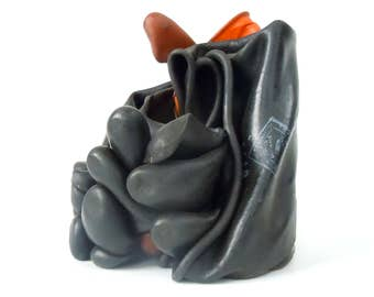 Vintage Rubber Glove BLOB / Formed Vintage Gloves / Gloves in Space / Desk Top Accessory / Desk Top Art / Old Rubber Gloves Sculpture