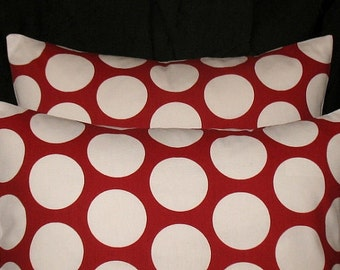 Back in stock, ChristmasRed Dot Pillow Cover Christmas Pillow Cover