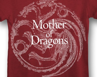 Game of Thrones Mother of Dragons Daenerys Targaryen Khaleesi Shirt. Womens Off The Shoulder Oversized Slouchy Game of Thrones