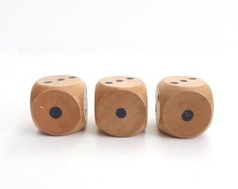 Three Large Wooden Dice