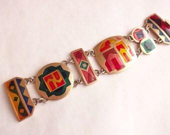 Bokara Enamel Bracelet by Monet