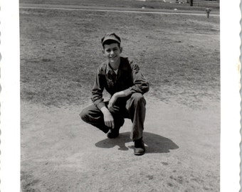 Vintage Photo - My Soldier Boy - Vernacular, Black and White, Found Photo (A)